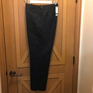 Talbots Navy jacquard ankle pants misses 8 lined
